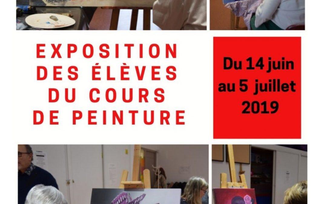 Exposition des toiles des élèves du cours de peinture