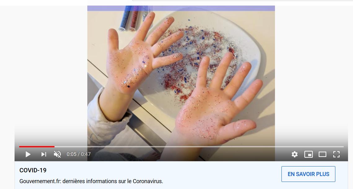 lavage de main paillettes