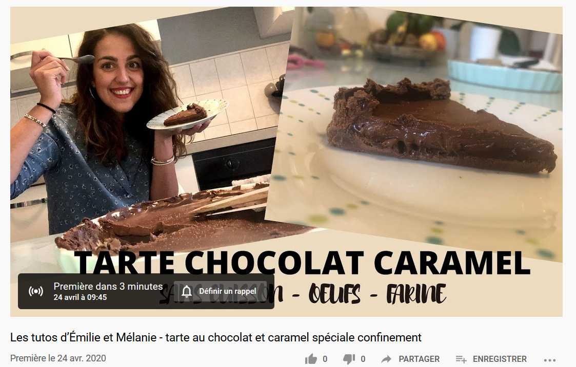 tuto tarte chocolat caramel