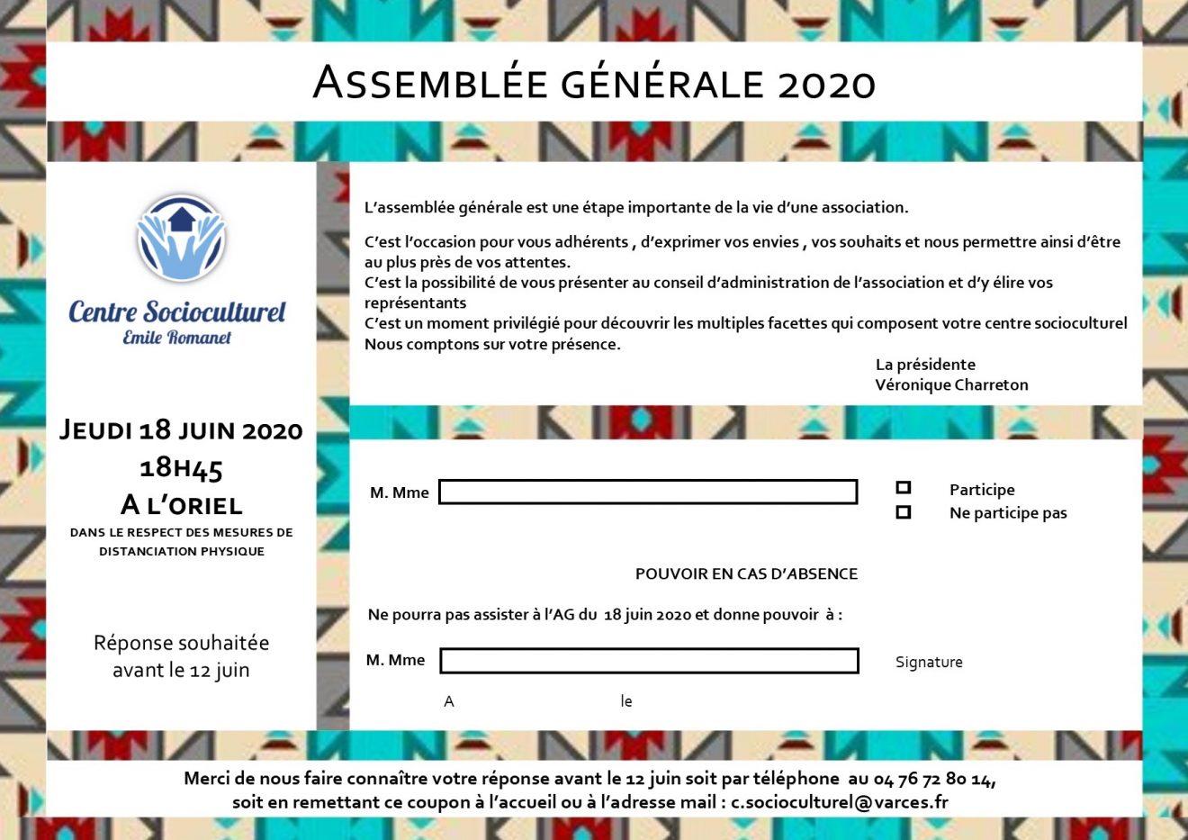 invitation AG 18 juin