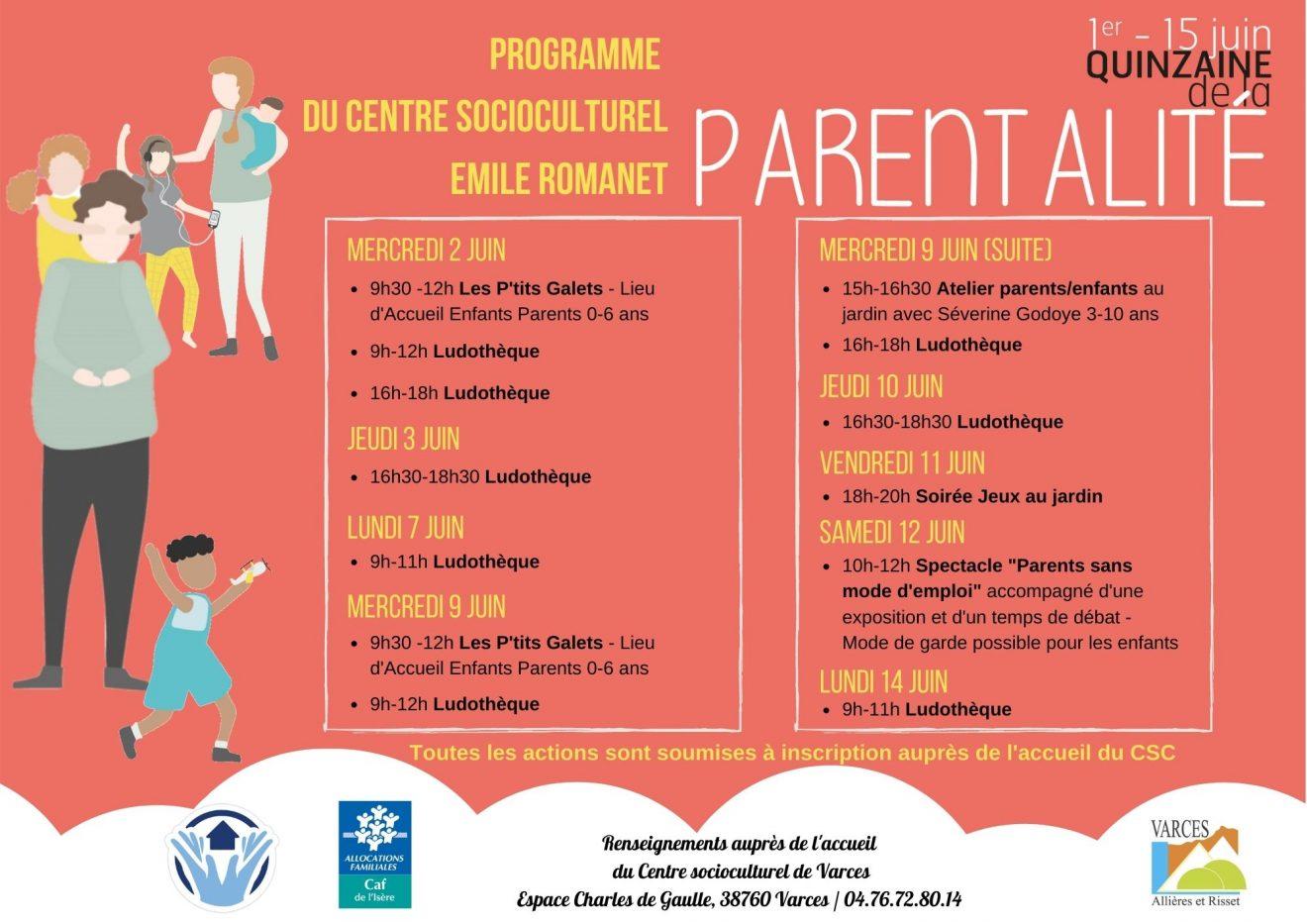 programme 15aine de la parentalité
